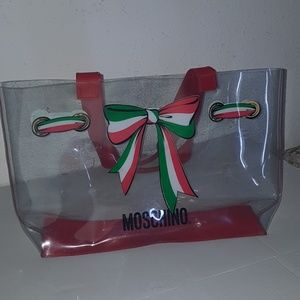 Moschino pvc clear tote bag